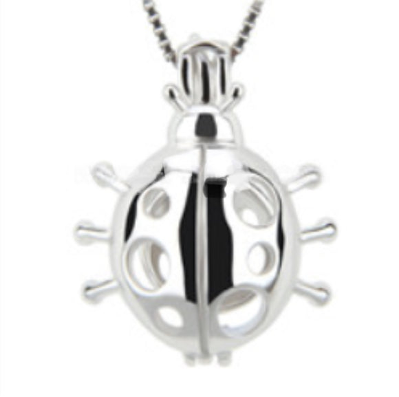 Lady Bug Sterling Silver Cage sku # 132-C