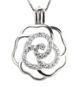 Rose Sterling Silver Cage sku # 121-C