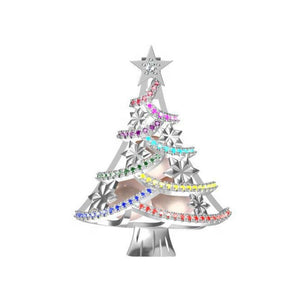 Multi Color Holiday Tree Sterling Silver Cage sku # 171-C
