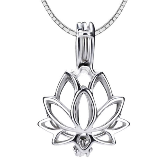 Lotus Sterling Silver Cage sku # 159-C