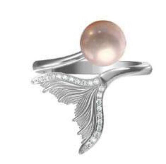 Mermaid Ring Sterling Silver Adj. sku # 306-R