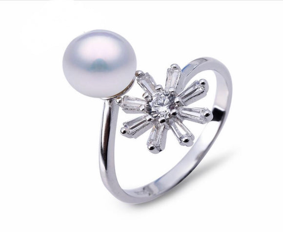 Blooming Flower Ring Sterling Silver Adj. sku # 329-R