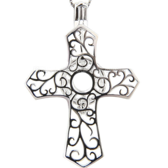 Scrolling Cross Sterling Silver Cage sku # 133-C