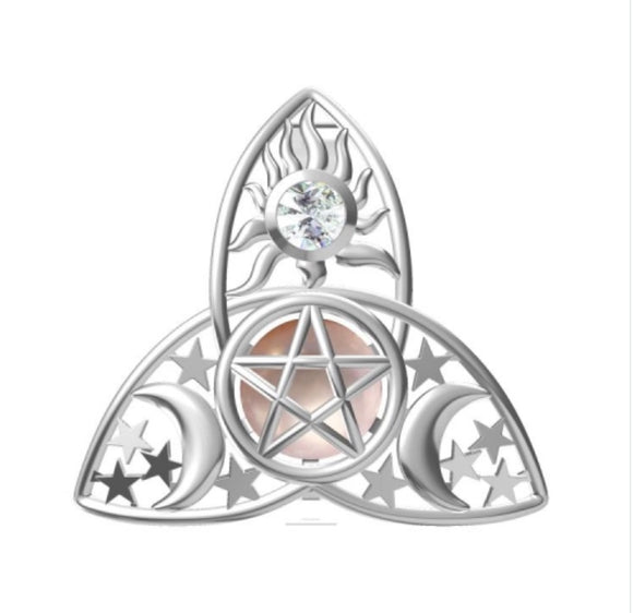 Celtic Star, Moon & Sun Sterling Silver Cage sku # 109-C