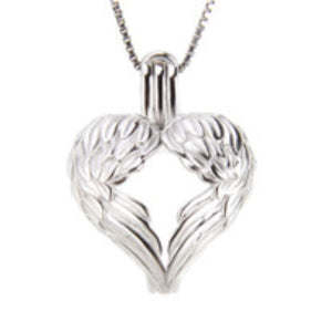 Heart Wings Sterling Silver Cage