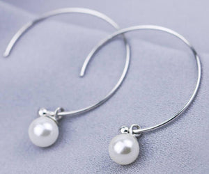 Dreamy Hoops Sterling Silver Earrings sku # 511-E