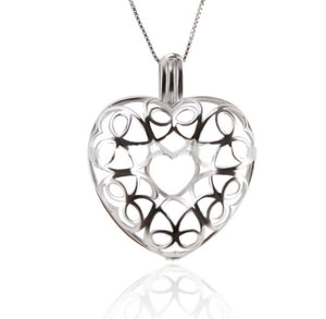 Floating Heart Sterling Silver Cage sku # 119-C