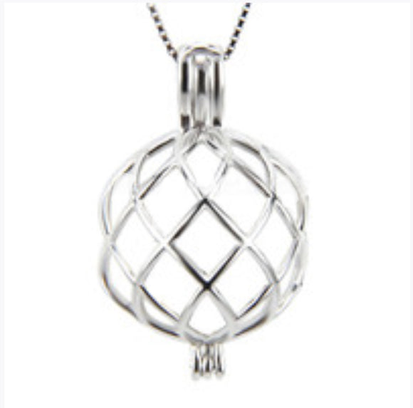 Sterling Silver Twisted Edison Cage sku # 707-EC