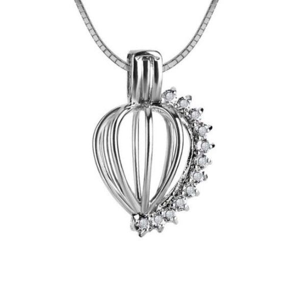 CZ Tear Drop Sterling Silver Cage sku # 104-C