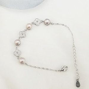 Pearls in Bloom Sterling Silver Bracelet sku # 403-BX