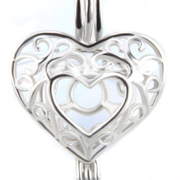 Heart of Love Sterling Silver Cage sku # 155-CX