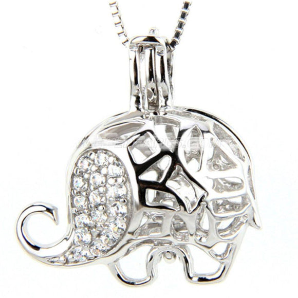Lucky Elephant Sterling Silver Cage sku # 136-C
