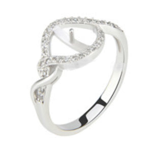 Lovely Ring Sterling Silver sku # 339-R (Size 8-9-10)