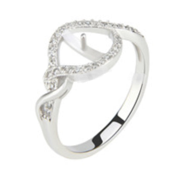 Lovely Ring Sterling Silver sku # 339-R (Size 9)