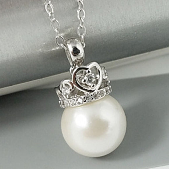 Princess Crown Pendant Sterling Silver