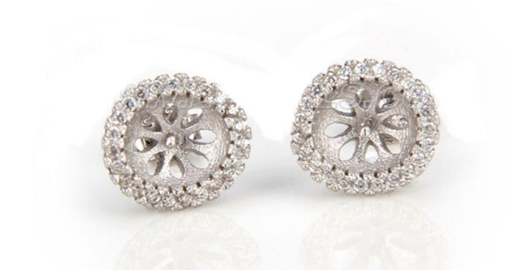 Princess Sterling Silver Earrings sku # 503-E