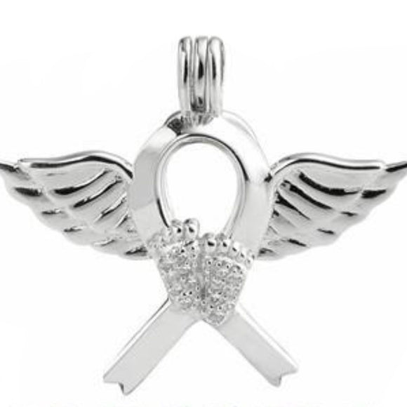 Mommy's Angel Sterling Silver Cage