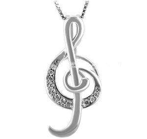 Musical Note Sterling Silver Cage