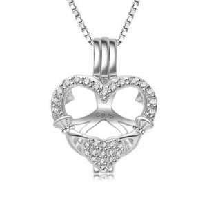 Heart in Hand Sterling Silver Cage sku # 124-C