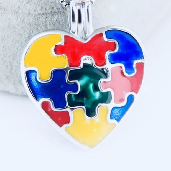 Autism Heart Sterling Silver Cage sku # 168-C