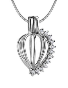 CZ Tear Drop Edison Cage sterling silver .925 sku # 709-EC
