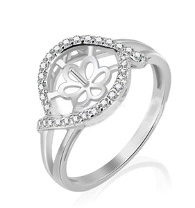 Exquisite Ring Sterling Silver sku # 338-R (Size 9)