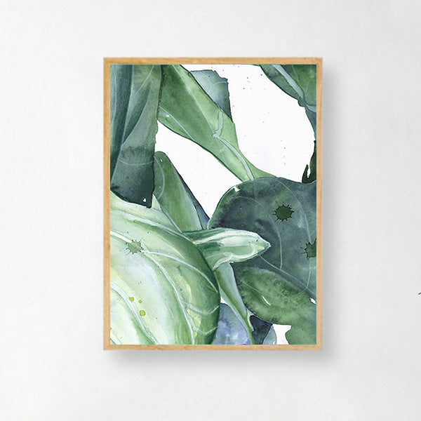 Abstract Leaves Washed Away Canvas-Discover Your Nook