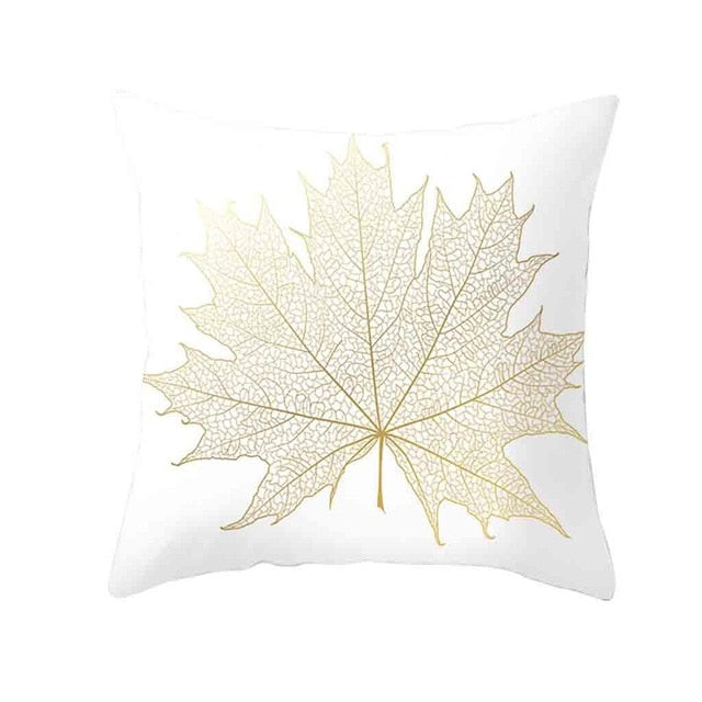 Gold Plant Printed Cushion-Discover Your Nook