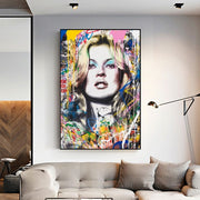 Mr. Brainwash Painting Kate Moss Poster Canvas-Discover Your Nook