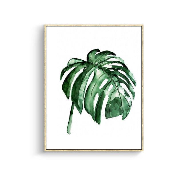 Modern Green Tropical Plant Leaves Canvas-Discover Your Nook