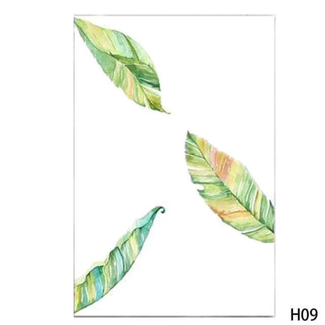 Tropical Plant Leaves Canvas-Discover Your Nook