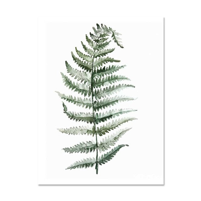 Tropical Watercolor Plant Leaves Canvas-Discover Your Nook