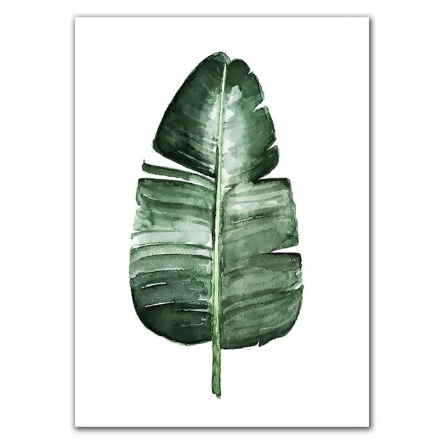 'Watercolor Tropical' Plant leaves Canvas Art-Discover Your Nook