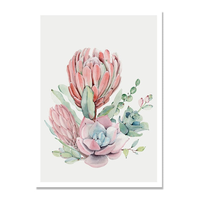 Succulent Plants Nordic Poster-Discover Your Nook