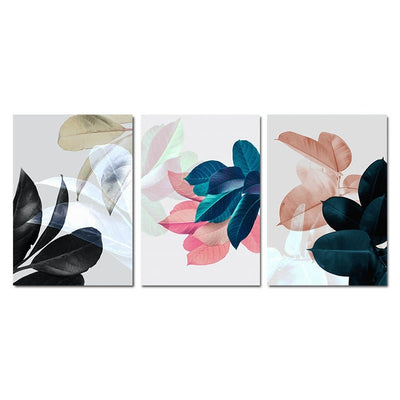Scandinavian Botanical Leaf Wall Art Canvas Print-Discover Your Nook