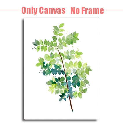 Watercolor Minimalist Plant Leaves Poster Print-Discover Your Nook