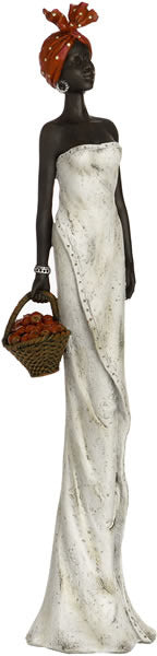 African Lady with Basket
