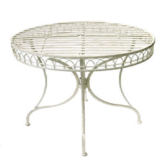 Cream Metal Round Table 95cm