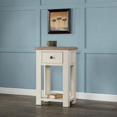White Painted Portland Small Console with 1 Drawer & Shelf
