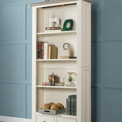 White Painted Portland 6ft Bookcase