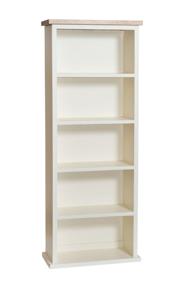 Cream Painted CD/DVD Rack with Oak Top