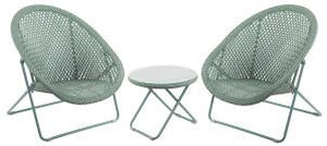 Faux Rattan Folding All Weather Chairs & Table Set