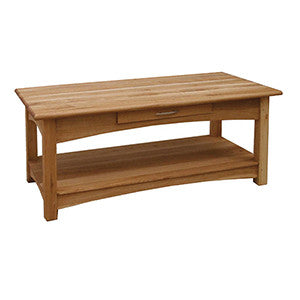 Coach House Brooklyn Oak Coffee Table With Drawer
