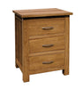 Benton Oak 3 Drawer Bedside
