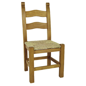 Beech Breton Chair with Rush Seat