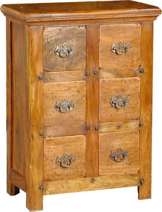 Rustic 6 Drawer CD Cabinet