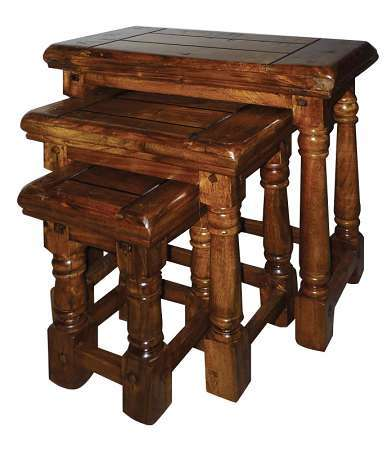 Rustic Chunky Nest of Tables