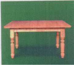 "Pine Farmhouse Tables (38mm Thick Top) 4"" Turned Legs"