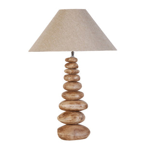 Tall Stacked Pebble Lamp