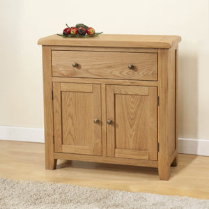Shrewsbury Oak Compact Sideboard With 1 Drawer And 2 Doors